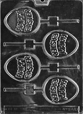 HAPPY EASTER LOLLY POP mold Chocolate Candy bunnies eggs rabbit bows E170
