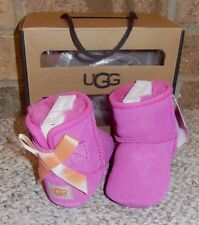 UGG Australia Infant Booties Jesse Bow Suede Boot - Princess Pink - SZ 0/1 NEW!