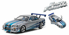 "GREENLIGHT 1999 NISSAN SKYLINE GT-R (R34) ""FAST & FURIOUS"" MOVIE 1/18 CAR 19029"
