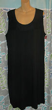NWT Merona Women's Plus Size 2 Sun Dress Sleeveless Black Includes Belt Rayon