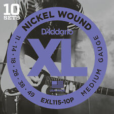 10 sets D'Addario EXL115 Medium Gauge Electric Guitar Strings ProPack