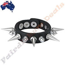 Leather Bracelet with Long & Short Spikes Gothic Punk Mens