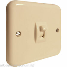 Crabtree Flush Fitting Ivory Bakelite Switch 1Way 1Gang