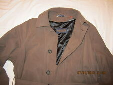 Preowned Men's Size 44R Polo University Club Olive Trench Coat by Ralph Lauren