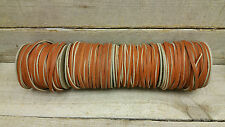 cow hide 1/8 wide 50' long/base ball lace rust color/ SALE !!!