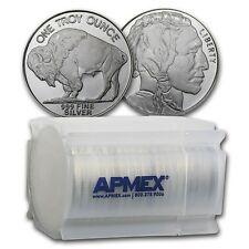 SPECIAL PRICE! 1 oz Silver Buffalo Round .999 Fine (Lot, Roll, Tube of 20)