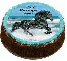 Horse Cake topper edible  image icing REAL FONDANT not rice paper