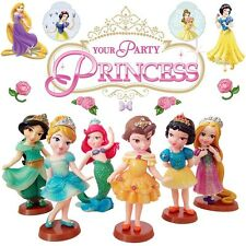 6 DISNEY PRINCESS SNOW WHITE BELLE ACTION FIGURE FIGURINES CAKE TOPPER DECOR TOY