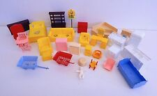 Vintage Lot of 30 Pieces of Marx Plastic Dollhouse Furniture