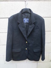 Veste BURBERRY femme noir made in France laine cachemire taille 42