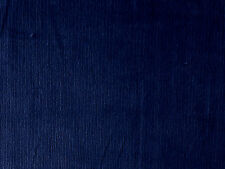 NAVY BLUE COTTON SPANDEX STRETCH NEEDLECORD CORDUROY DRESSMAKING CRAFT FABRIC PM