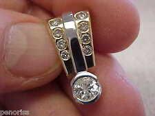 Large Diamond Slide Pendant for Omega Necklace or wide Necklace  Make Offer
