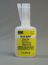 SLO-ZAP 1 OZ.THICK CA GAP FILLER train figures scenery models plastic glue ZAP20