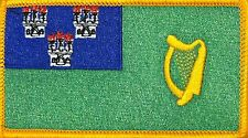 DUBLIN  Flag Military Patch With VELCRO® Brand Fastener GOLD Border #15