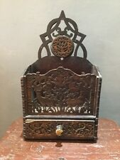 19th Century Scottish Fretwork Candlebox Red Deer.Thistle
