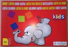 Carton format A4 50 feuilles (120 g) vert, rouge, rose, jaune, bleu, rose foncé