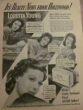 Loretta Young, Lux Soap, Full Page Vintage Print Ad