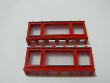 Lego 2 fenetres anciennes rouges 22 33 44 55 810 236 326 / 2 old red windows