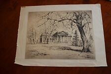 Antique Original Etching of THE WHITE HOUSE by A. White - Gorgeous!