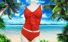 NWT GOTTEX V NECK FIRE RED 34D Rapture TANKINI 2 pc BATHING SUIT SWIMSUIT SET- 8