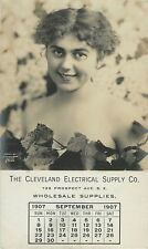 Lovely Lady, Cleveland Electrical Supply Co, September 1907 OH Ohio RPPC