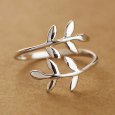 GF Jewelry Silver Filigree Leaf Vine Branch Wrap Thumb Adjustable Rings