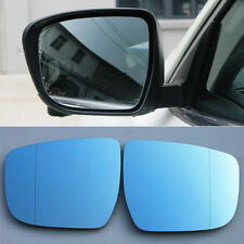 2pcs Power Heated w/Turn Signal Side View Mirror Blue Glasses For Nissan X-Trail