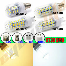 56SMD G9 5730 LED Corn Light w/cover Warm White 110V LED Corn Bulb Light Lamp #p