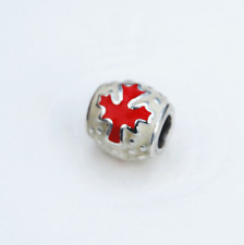 Genuine Pandora Charm Canada Maple Leaf - 790523ERW - retired