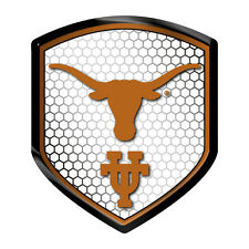 Texas Longhorns Reflector Auto Decal [NEW] NCAA Car Emblem Shield Sticker CDG