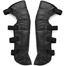 Unisex Motorcycle Rider Leather Half Chaps Legging Leg Cover Warmer Gaiter $