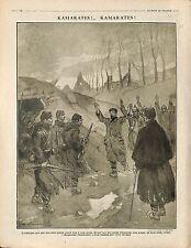 Soldats Deutsches Heer Poilus Tranchées de Combat Bataille de l'Artois 1915 WWI