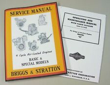 BRIGGS STRATTON 5S 5 SERVICE REPAIR OWNER OPERATOR OPERATING PART MANUAL