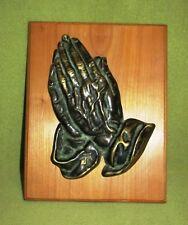 Bronze Betende Hände; Albrecht Dürer auf Kirschbaum Brett