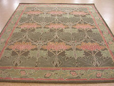 8' x 10' Pottery Barn Cecil Rug Green Persian Style New Hand Tufted Wool Rug