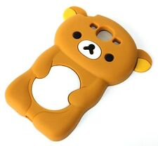 For Samsung Galaxy SIII S3 - SOFT SILICONE RUBBER SKIN CASE COVER BROWN BEAR