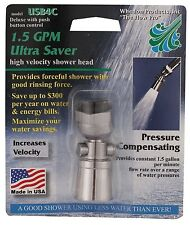 1.5 gpm ULTRA LOW FLOW Water Saver Showerhead w/ Push Button Shower Head $aveNRG