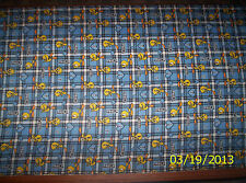 New Blue Plaid Loony Tunes Tweety Bird and Hearts Flannel fabric by the 1/4 yard