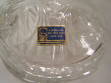 Lausitzer Glas Lead Crystal Footed Candy Jar w/ lid Tag Mint Hand Cut Glass