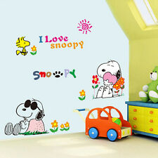 Cartoon Snoopy Mural Removable Wall Sticker Vinyl Decal Kids Nursery Home Decor