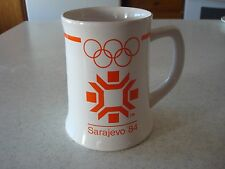 1984 Sarajevo '84 XIV Olympic Winter Games Mug Stein by Wallace Berrie EUC 1982