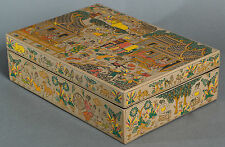 "Unique & Beautiful Burmese Lacquerware 'Village Life' Box - 30cmx21cm / 12""x8"""