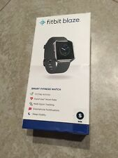 Brand New & Sealed FITBIT BLAZE Stainless Steel Frame Black Band Size Small