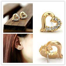 18K GP Heart CZ Lovely elegant Earrings Made in Korea