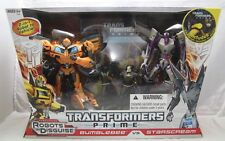 Transformers Prime Robots In Disguise BUMBLEBEE vs STARSCREAM w/ DVD by Hasbro