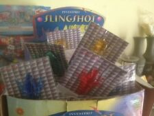 Lot Of 10 Packs Of Soft Sticky Slingshot Shooters, Insects, New