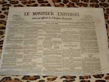 LE MONITEUR UNIVERSEL, journal officiel de l'empire français, n° 159, 08/06/1858