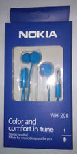 Nokia WH-208 Stereo Blue Handsfree Earphone For All Nokia Lumia-Blue