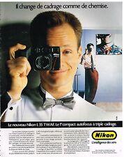 Publicité Advertising 1986 Appareil photo Nikon L35 TW AF