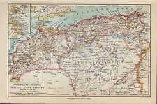 Landkarte map 1924: NORD-WEST-AFRIKA. Algerien Algier Tunis Marokko Africa